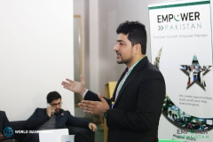 Speaking on entrepreneurship at Basecamp Peshawar at an event organized by World Bank and Empower Pakistan