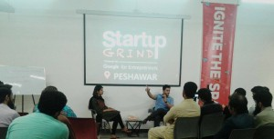 Syed Irfan Ajmal Speaking at Startup Grind Peshawar