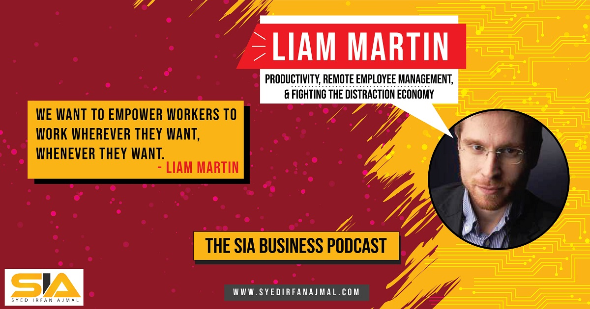 Liam Martin Speaking on the SIA Business Podcast